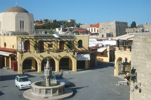 Square in Rhodes Old Town